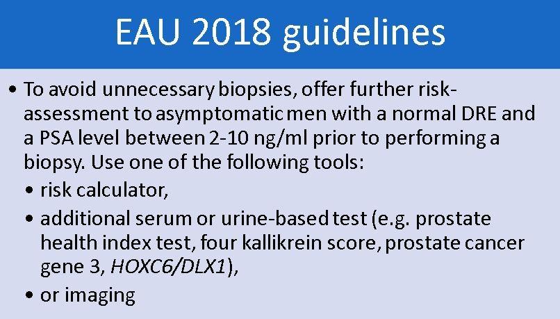 EAU 2018 guidelines